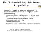 full disclosure policy rain forest puppy policy