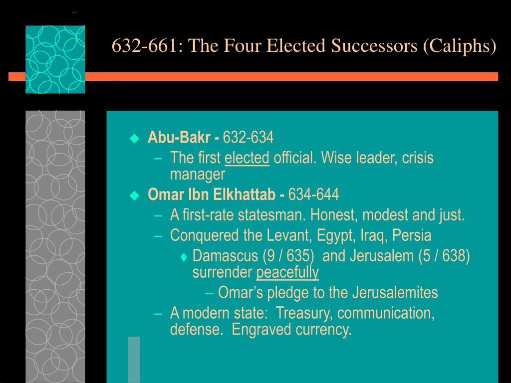 632-661: The Four Elected Successors (Caliphs)