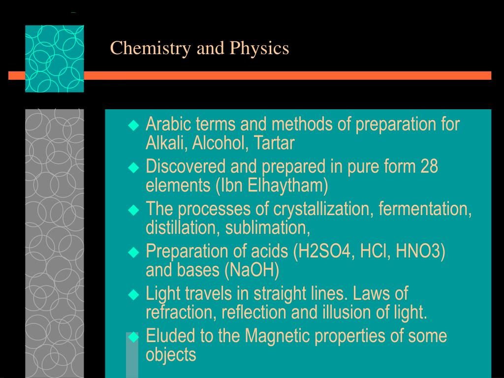 Chemistry and Physics