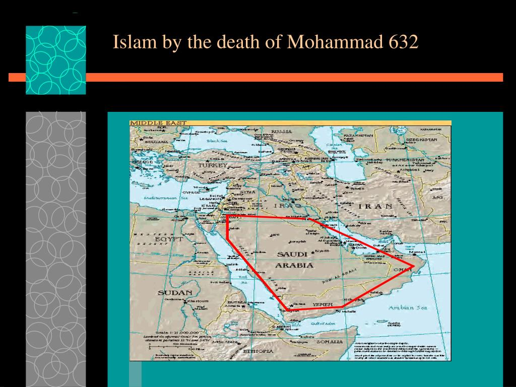Islam by the death of Mohammad 632