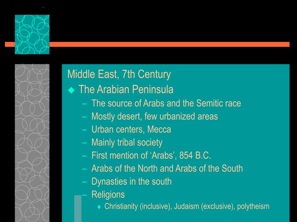 Middle East, 7th Century
