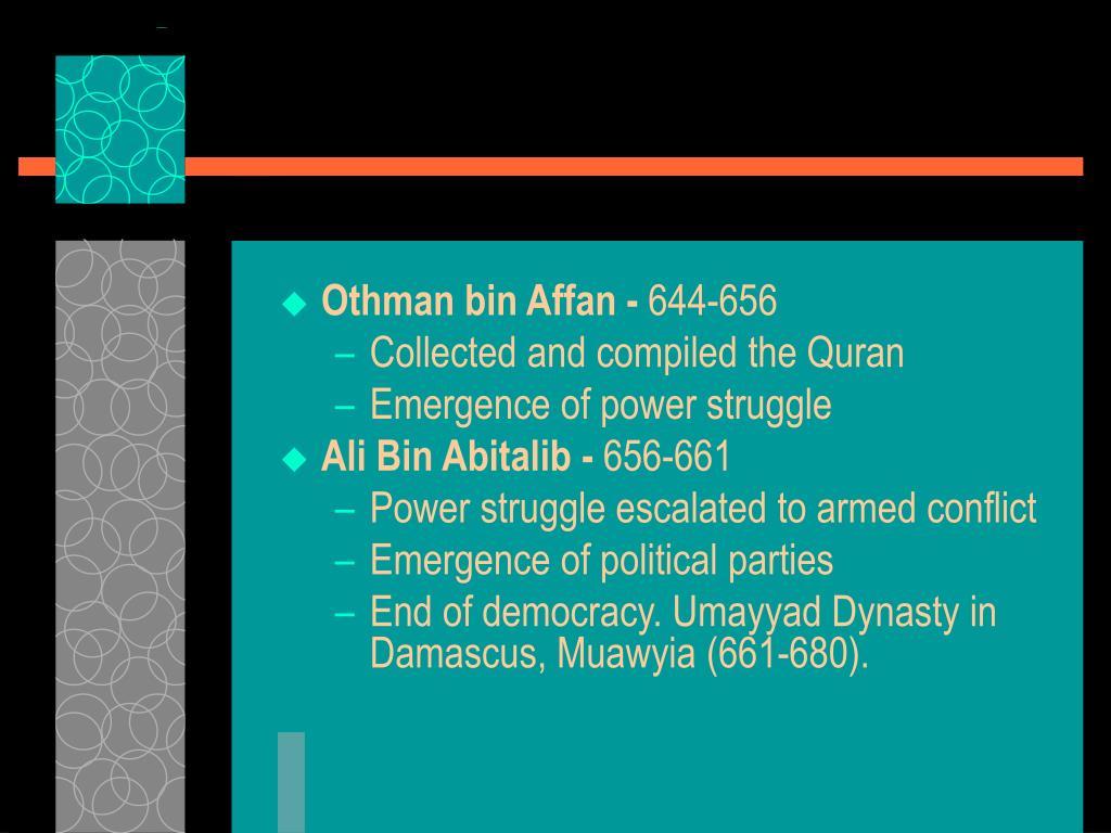 Othman bin Affan -