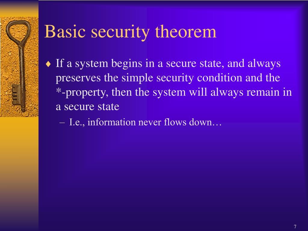 Basic security theorem