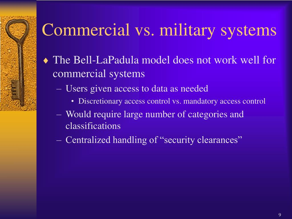 Commercial vs. military systems