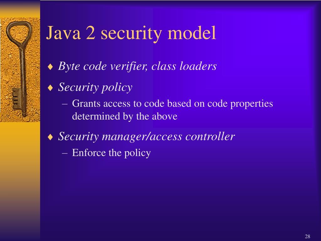 Java 2 security model