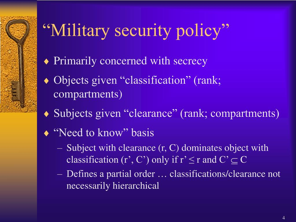 """""""Military security policy"""""""