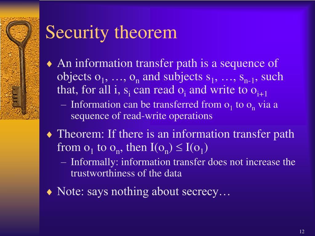 Security theorem
