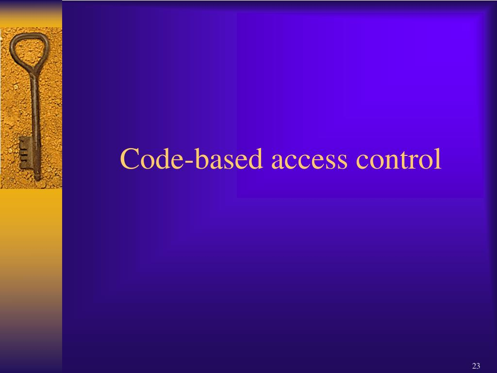 Code-based access control