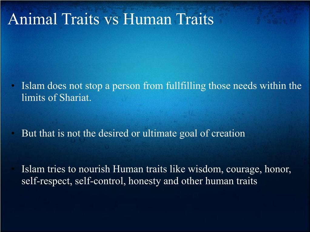 Animal Traits vs Human Traits