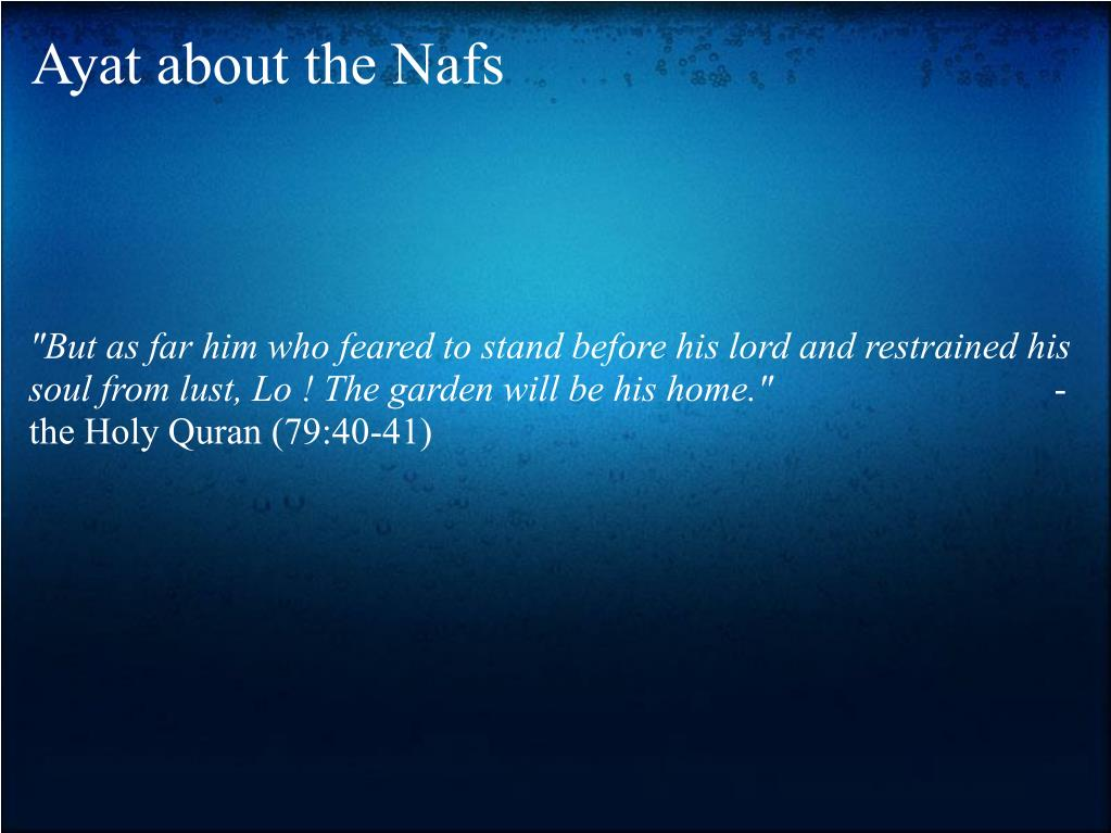 Ayat about the Nafs