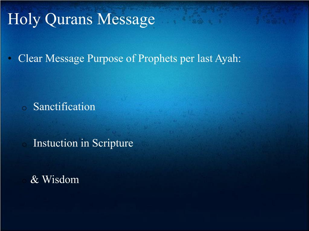Holy Qurans Message