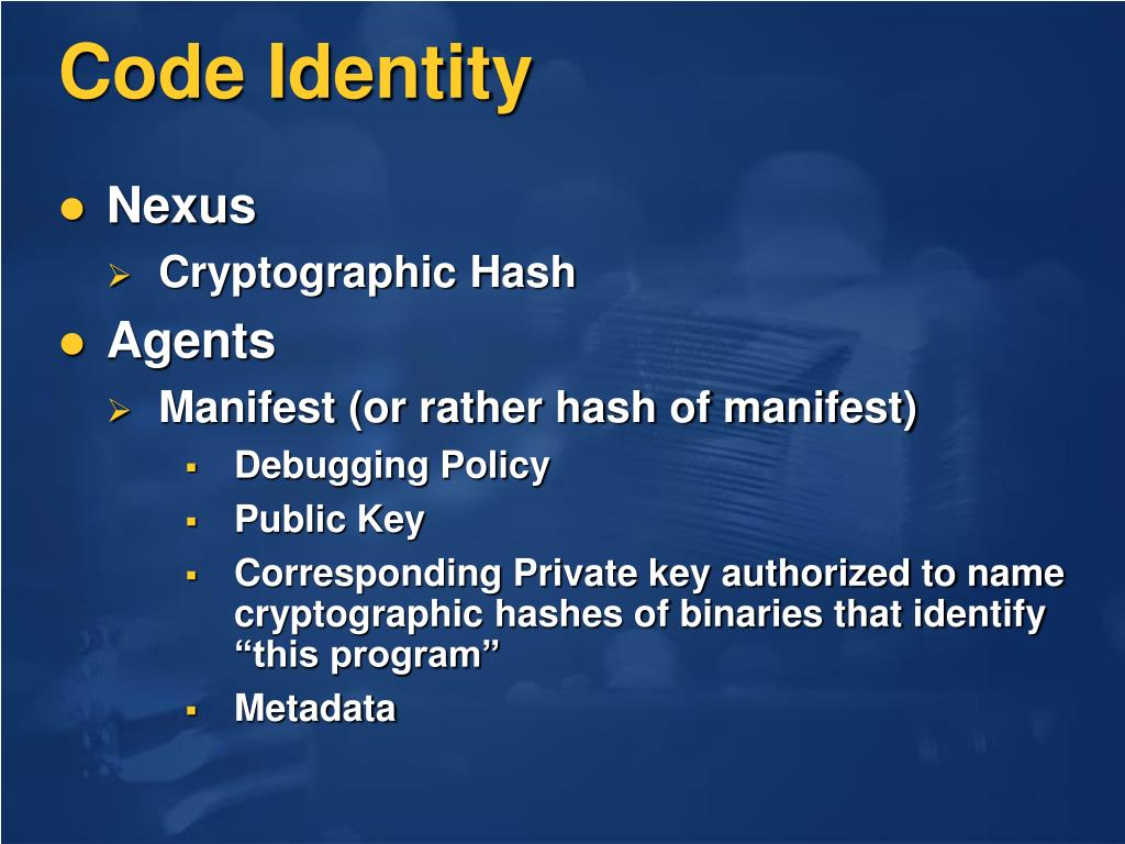 Code Identity