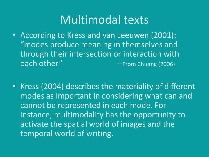 Multimodal texts