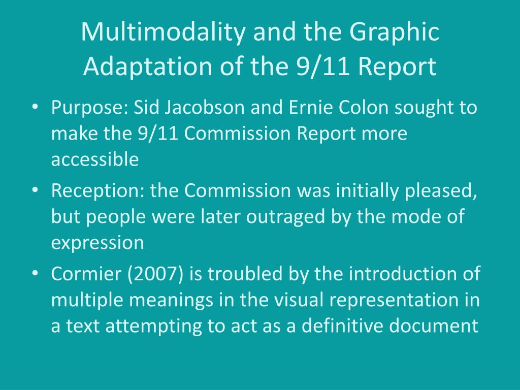 Multimodality and the Graphic Adaptation of the 9/11 Report