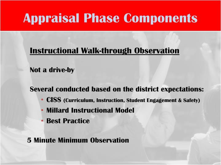 Appraisal Phase Components
