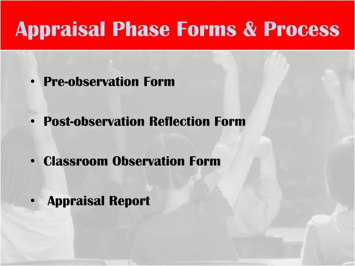 Appraisal Phase Forms & Process