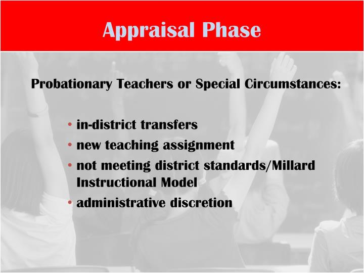 Appraisal Phase
