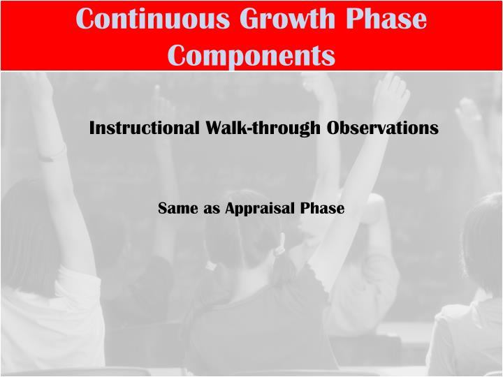 Continuous Growth Phase Components