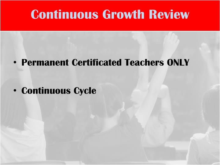 Continuous Growth Review