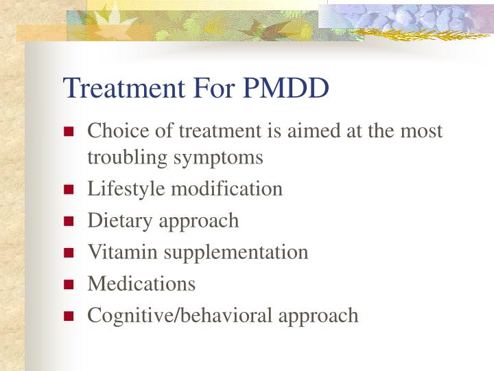 Treatment For PMDD