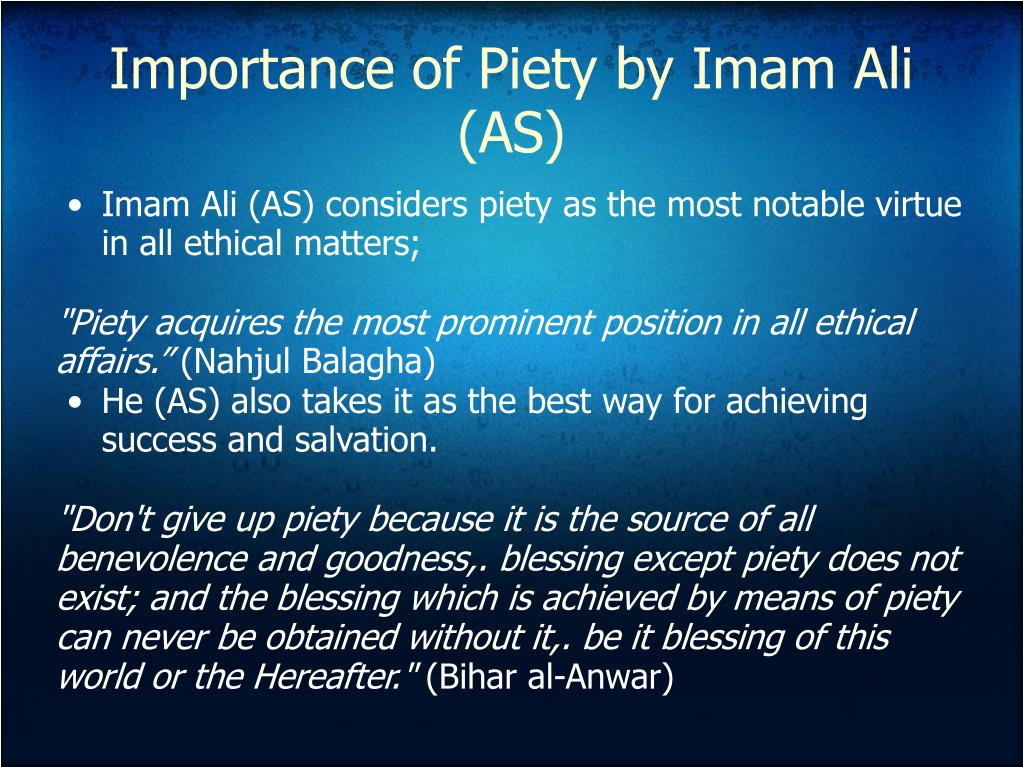 Importance of Piety by Imam Ali (AS)