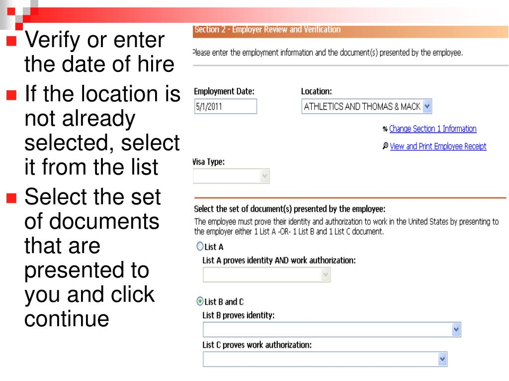 Verify or enter the date of hire