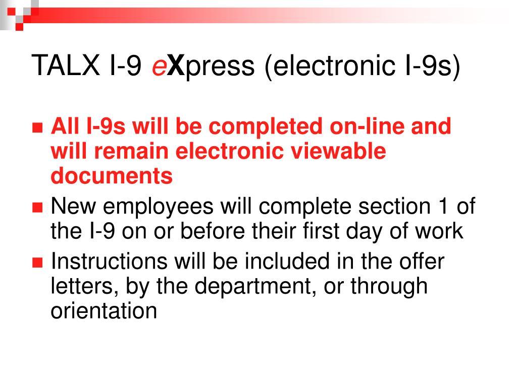 TALX I-9