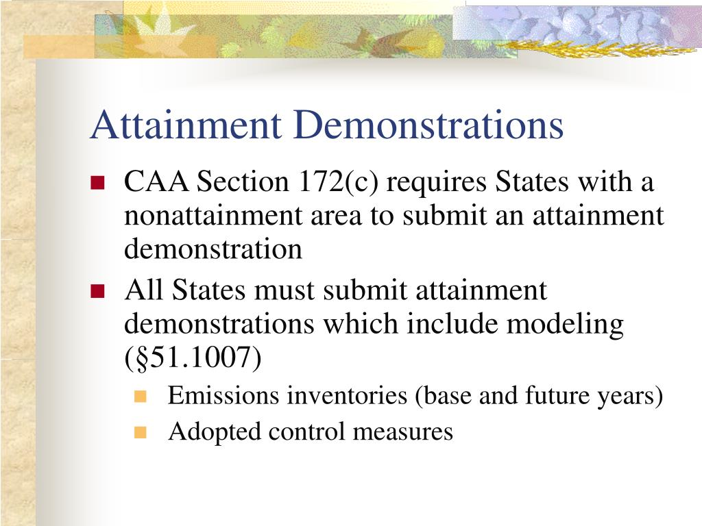 Attainment Demonstrations
