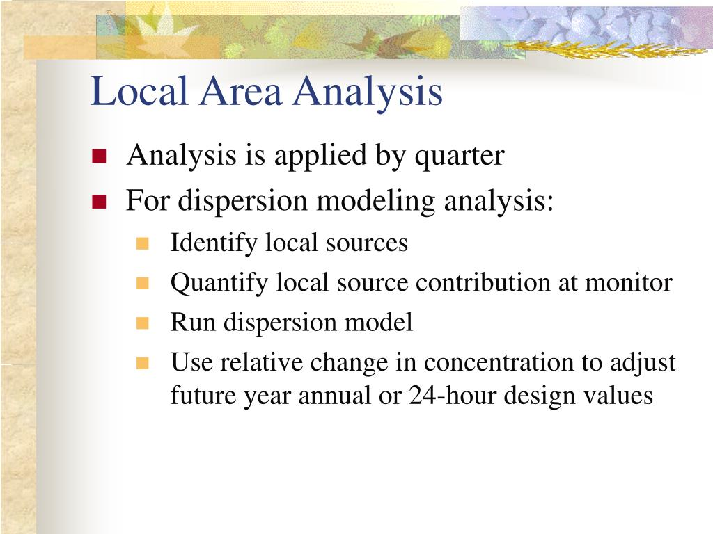 Local Area Analysis