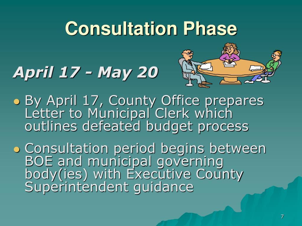 Consultation Phase