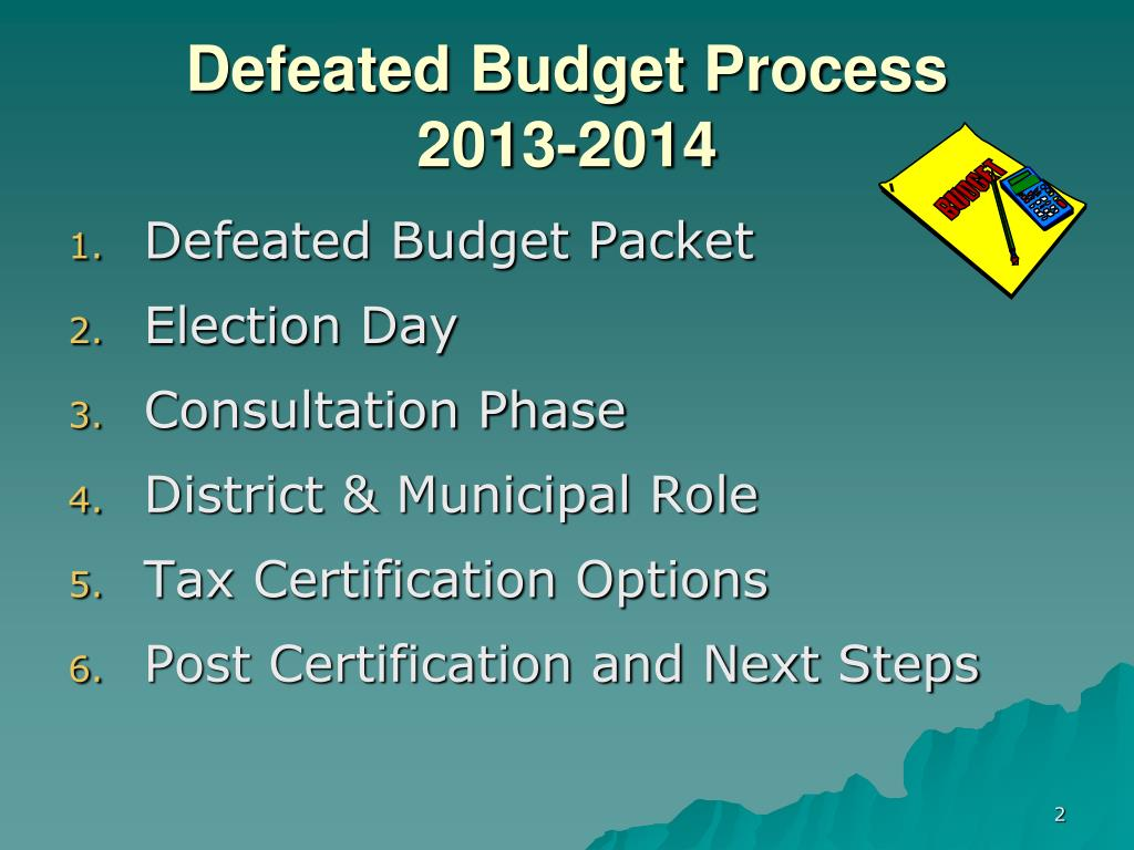 Defeated Budget Process