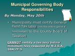 municipal governing body responsibilities