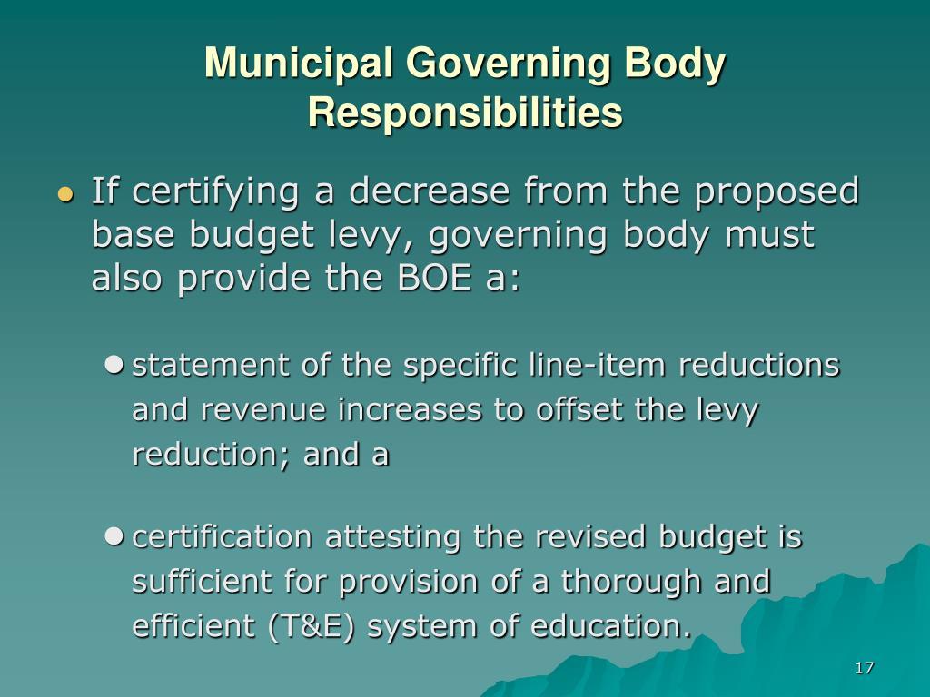 Municipal Governing Body