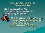 municipal governing body responsibilities19