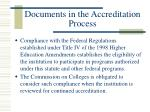 documents in the accreditation process11