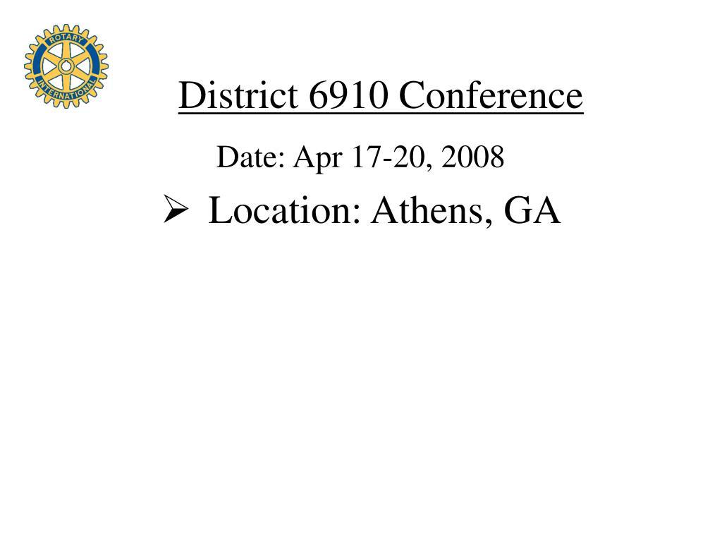 District 6910 Conference