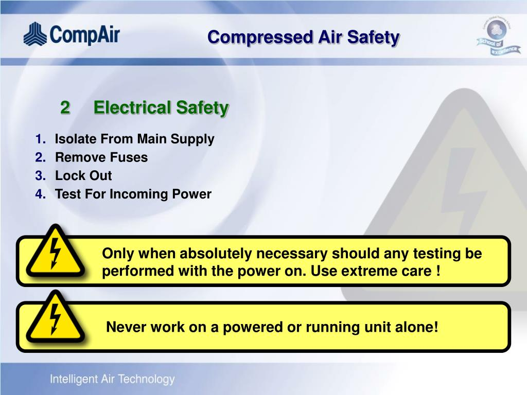 Only when absolutely necessary should any testing be performed with the power on. Use extreme care !