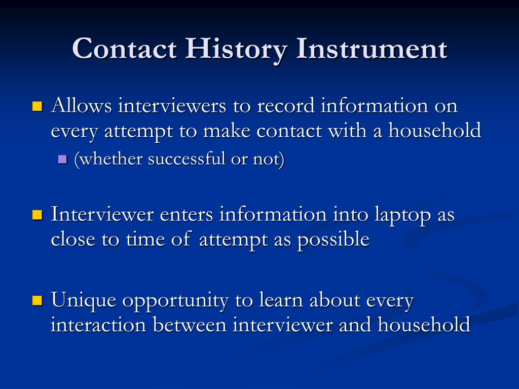 Contact History Instrument