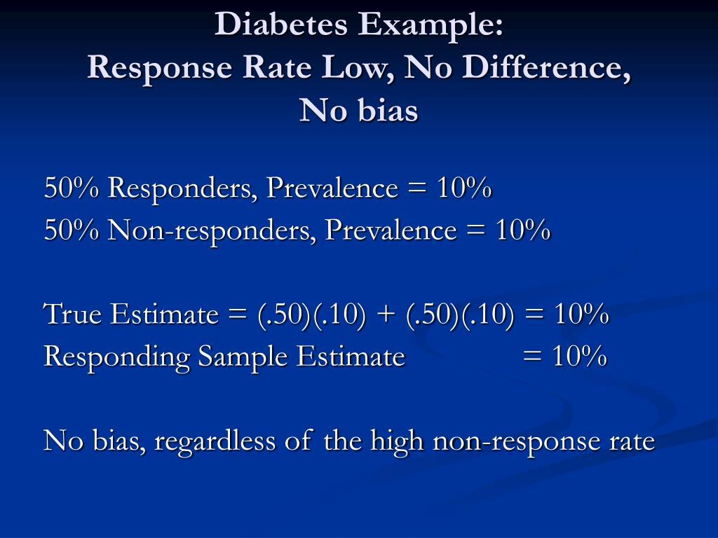 Diabetes Example: