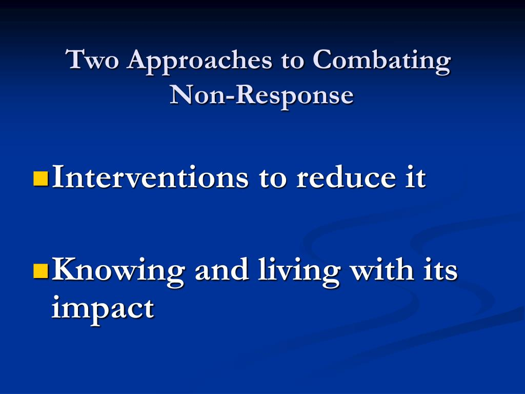 Two Approaches to Combating