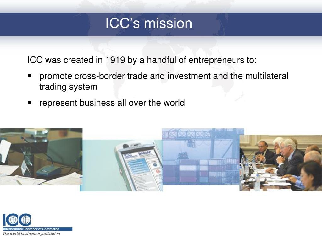 ICC was created in 1919 by a handful of entrepreneurs to: