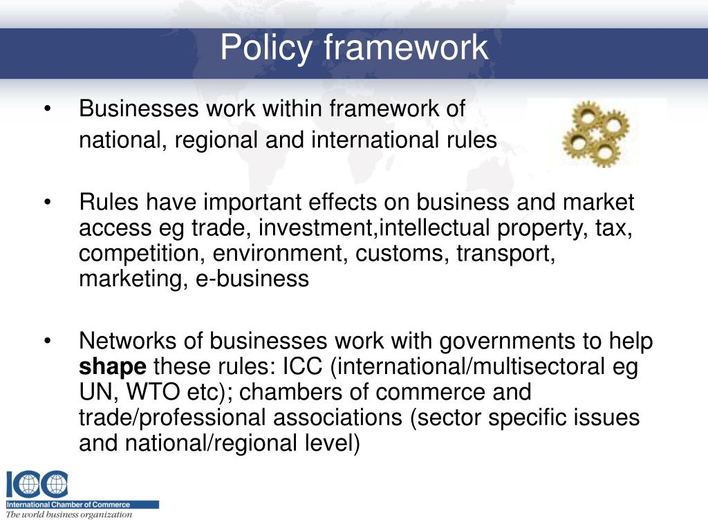 Businesses work within framework of