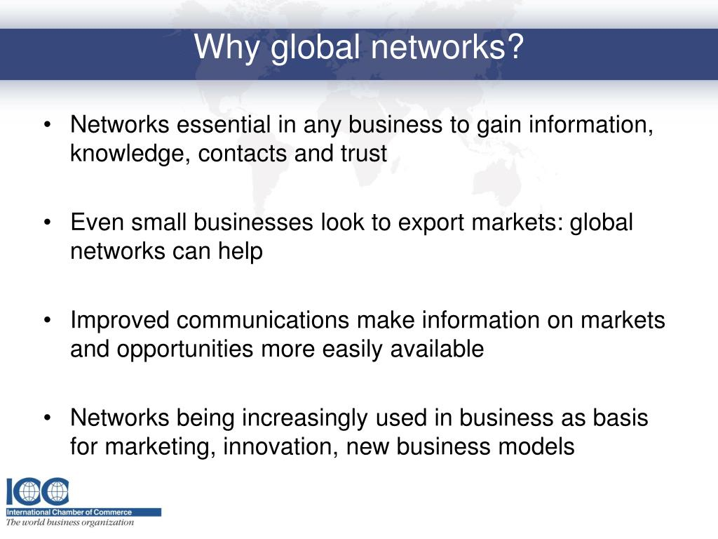 Networks essential in any business to gain information, knowledge, contacts and trust