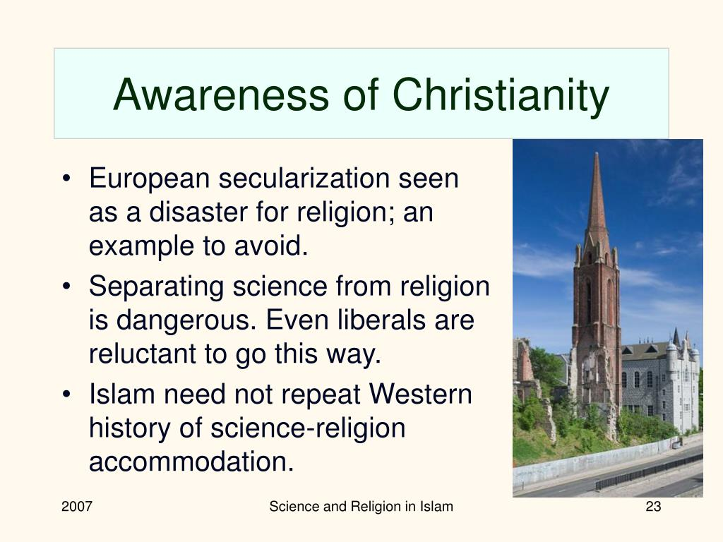 Awareness of Christianity