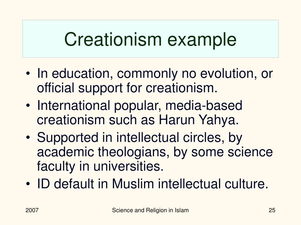 Creationism example