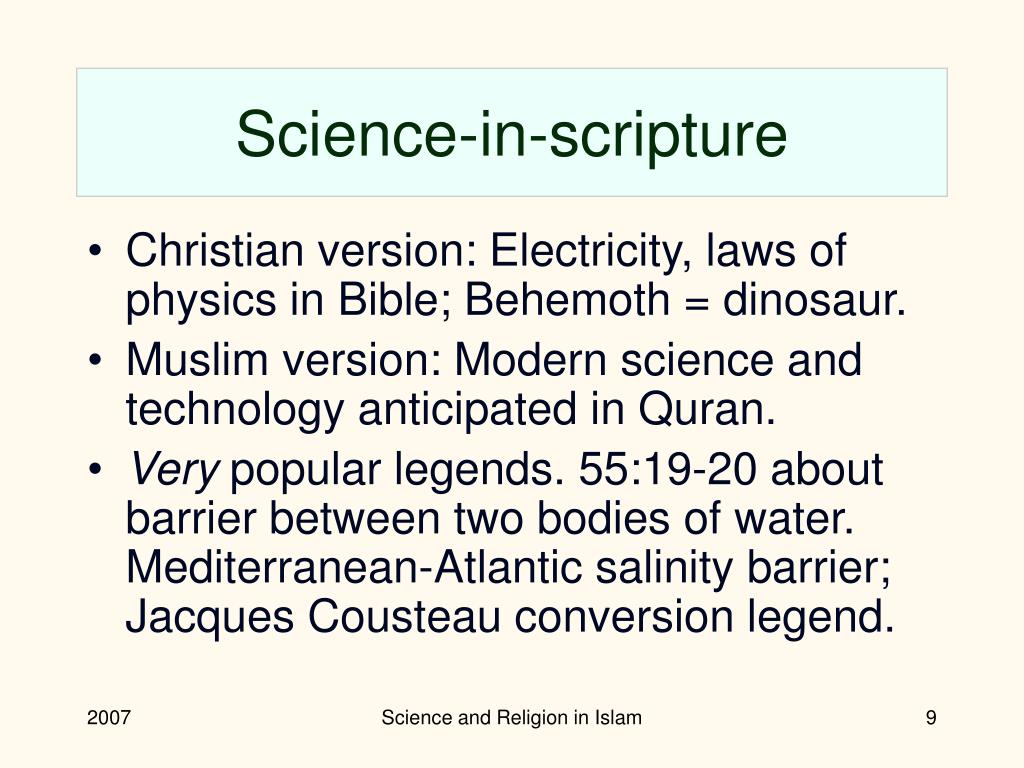 Science-in-scripture