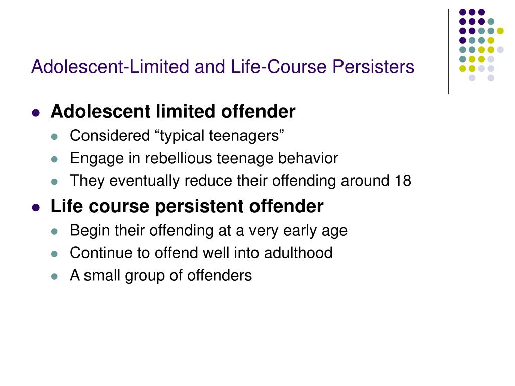Adolescent-Limited and Life-Course Persisters