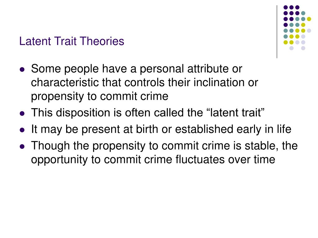Latent Trait Theories