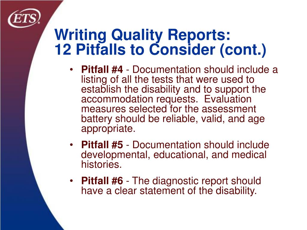 Writing Quality Reports: