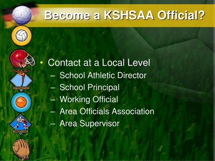 Become a KSHSAA Official?